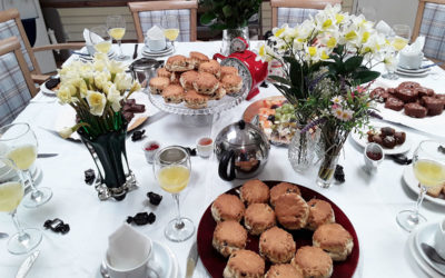 Lulworth House Residential Care Home ladies enjoy Mothers Day cream tea