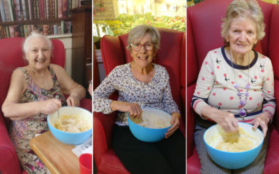 Baking shortbread at Lulworth House Residential Care Home