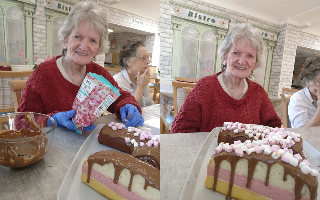 Cake decorating with Katja at Lulworth House Residential Care Home