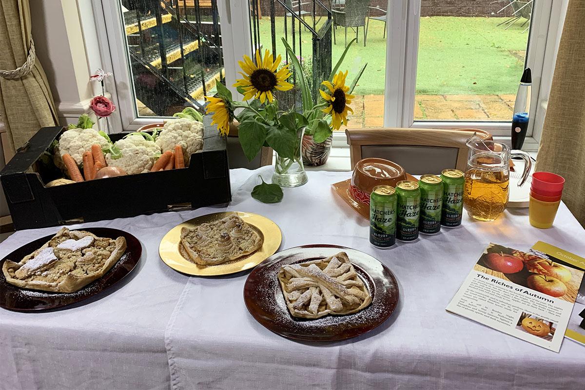 Harvest Festival celebration morning at Lulworth House Residential Care Home