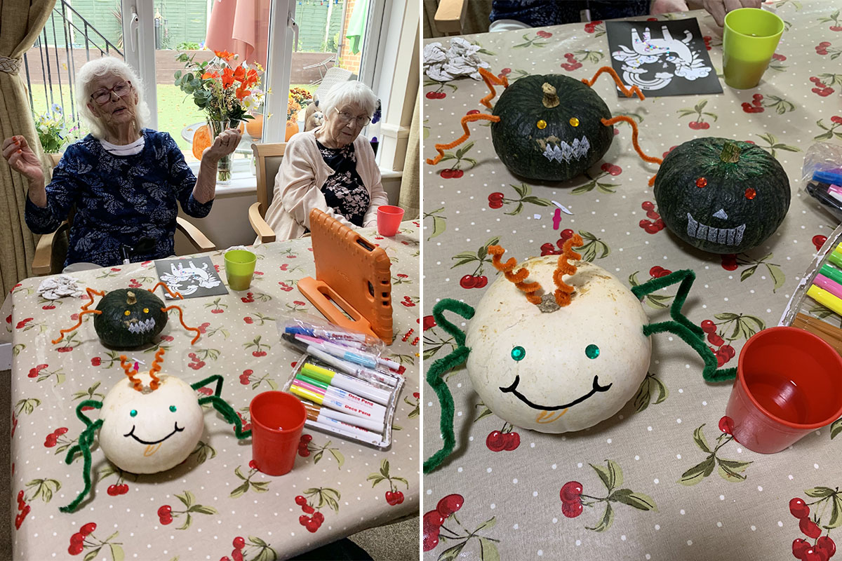 Autumn crafts and baking at Lulworth House Residential Care Home