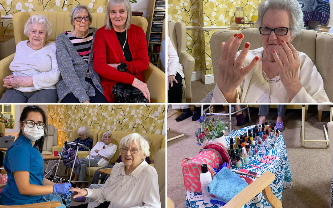Beautiful nails and Bingo at Lulworth House Residential Care Home