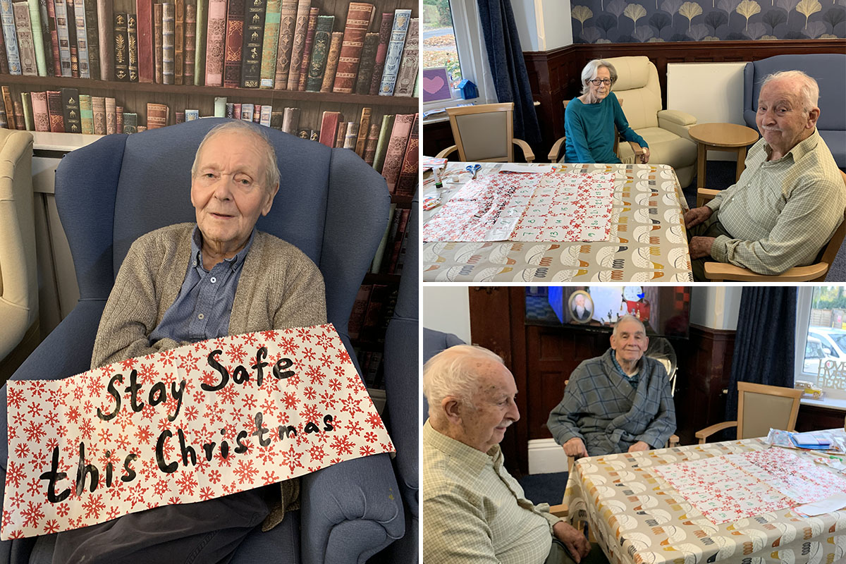 Countdown calendar and Christmas cards at Lulworth House Residential Care Home