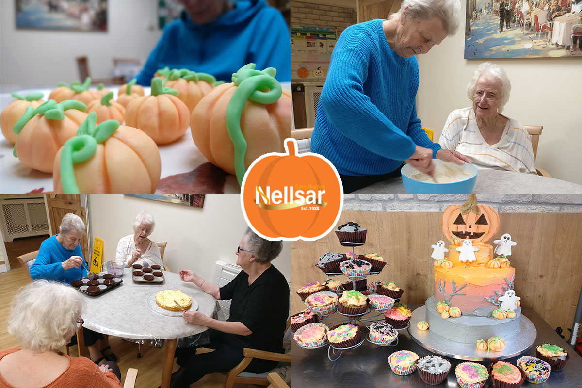 Lulworth House Residential Care Home residents make Halloween cakes and toppers