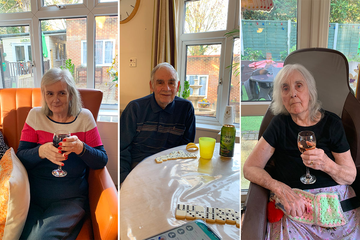 Lulworth House Residential Care Home residents enjoy Social Club afternoon
