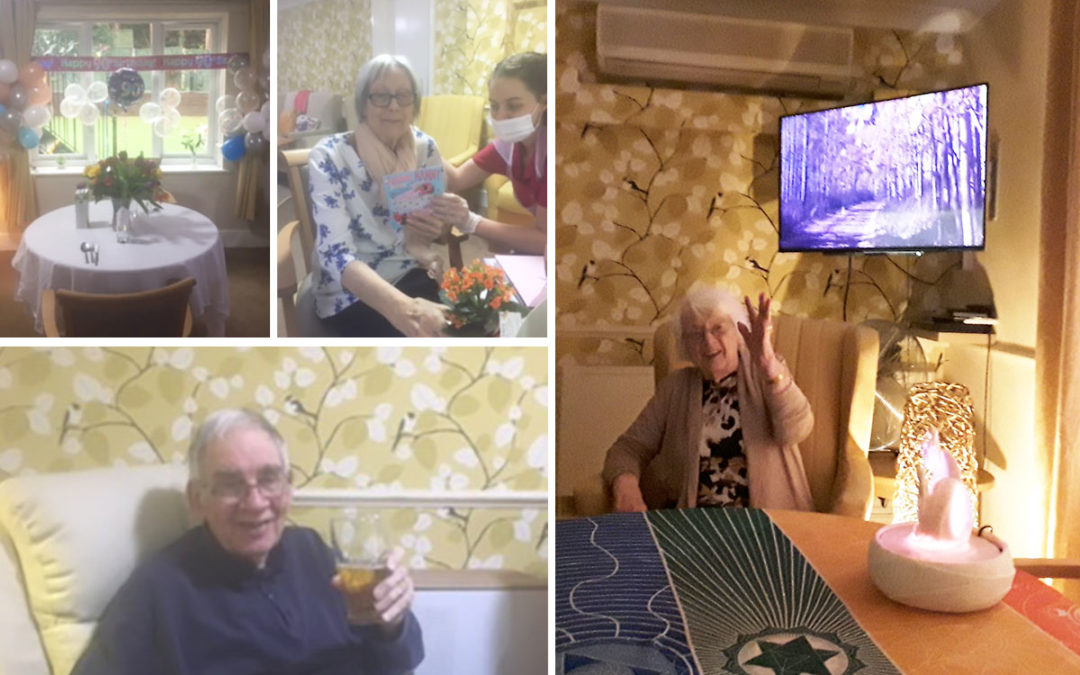 Birthday celebrations and bird watching at Lulworth House Residential Care Home