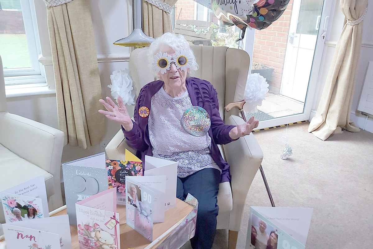Birthday celebrations and Posh Saturday at Lulworth House Residential Care Home