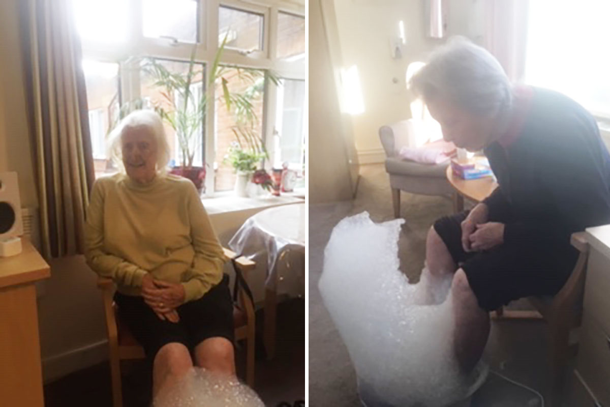Pampering and smiles at Lulworth House Residential Care Home