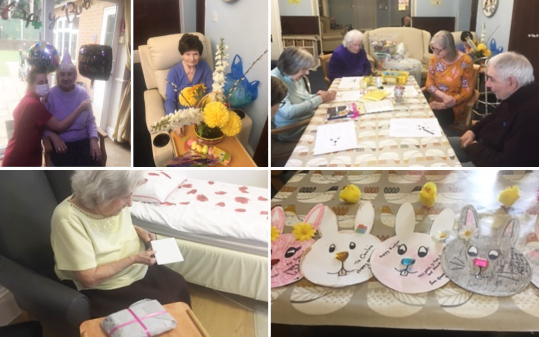 Birthday and Easter fun at Lulworth House Residential Care Home