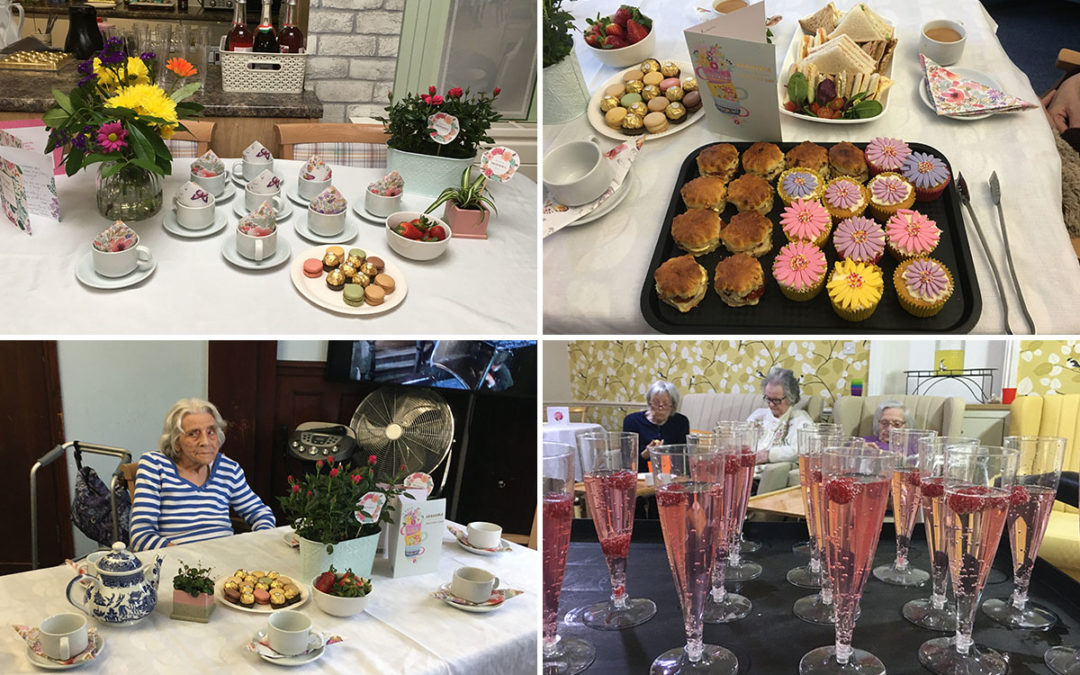 Lots of love on Mothers Day at Lulworth House Residential Care Home