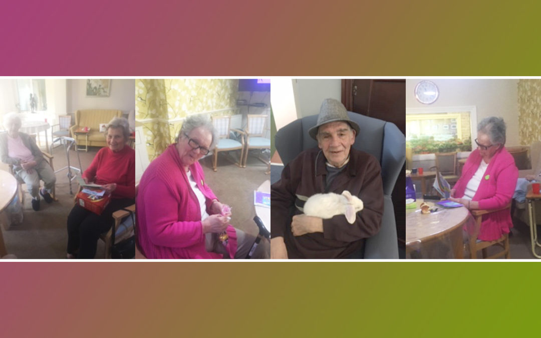 Easter cards at Lulworth House Residential Care Home