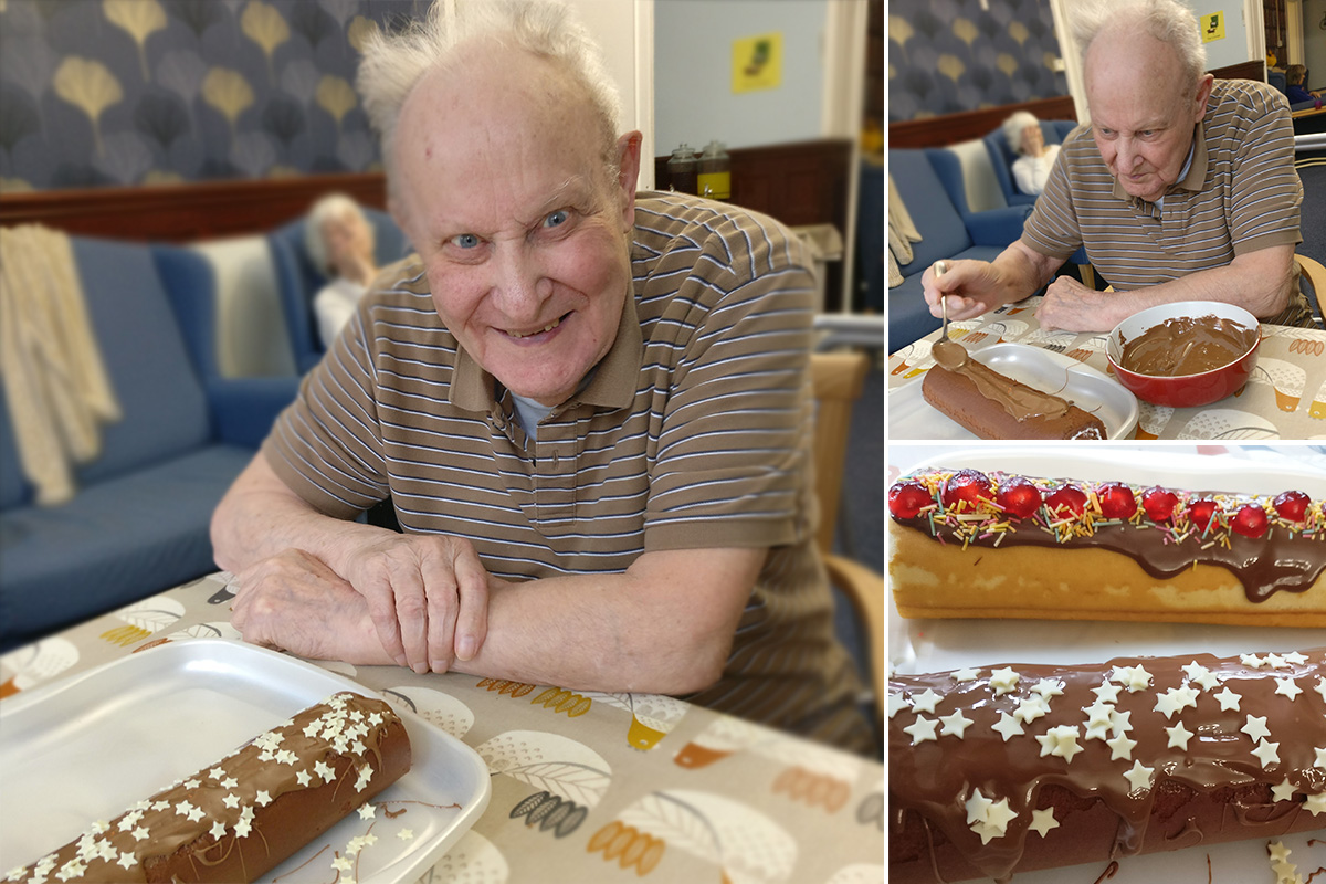 Cheesecakes and Swiss rolls at Lulworth House Residential Care Home