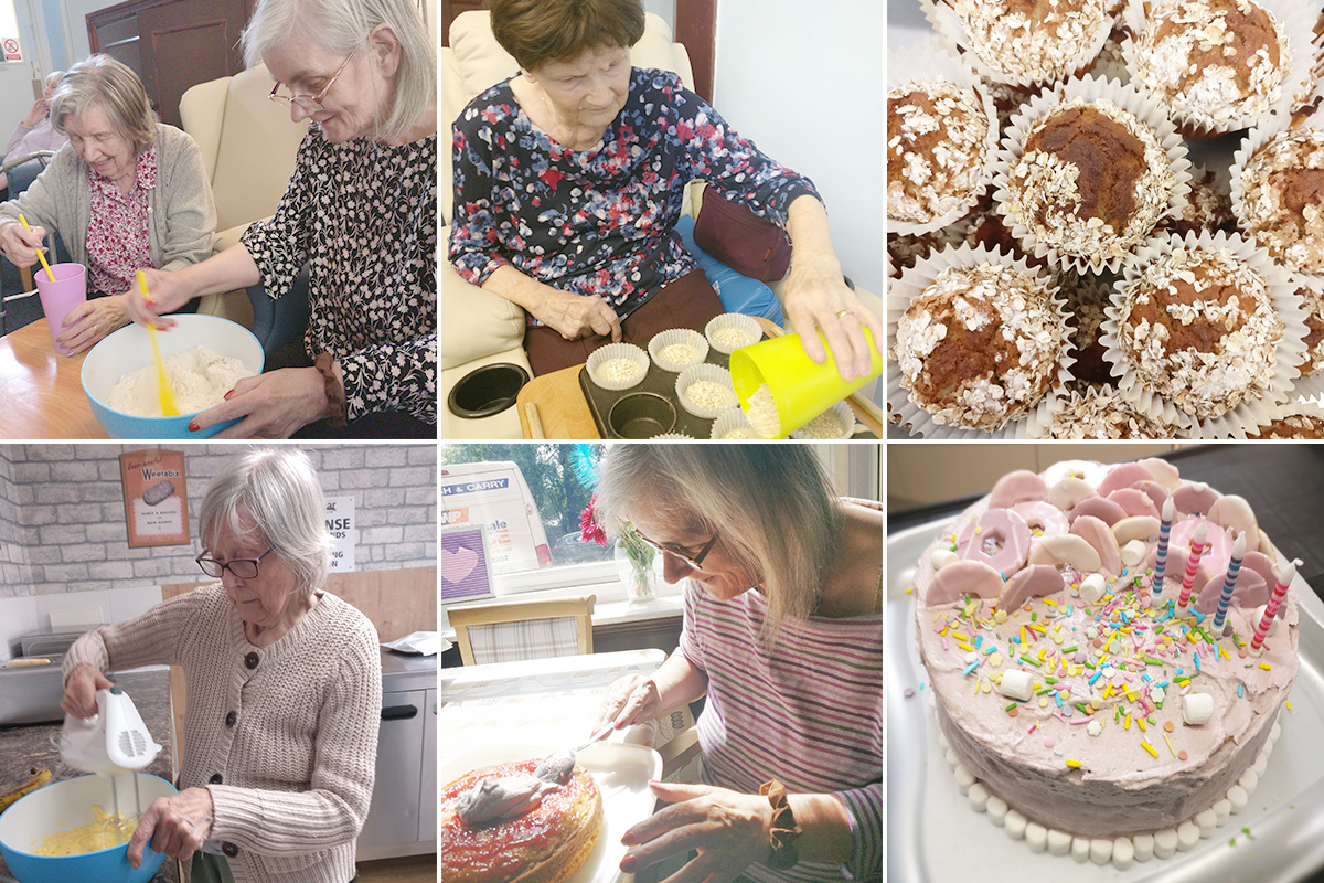 Baking Club muffins and cupcakes at Lulworth House Residential Care Home