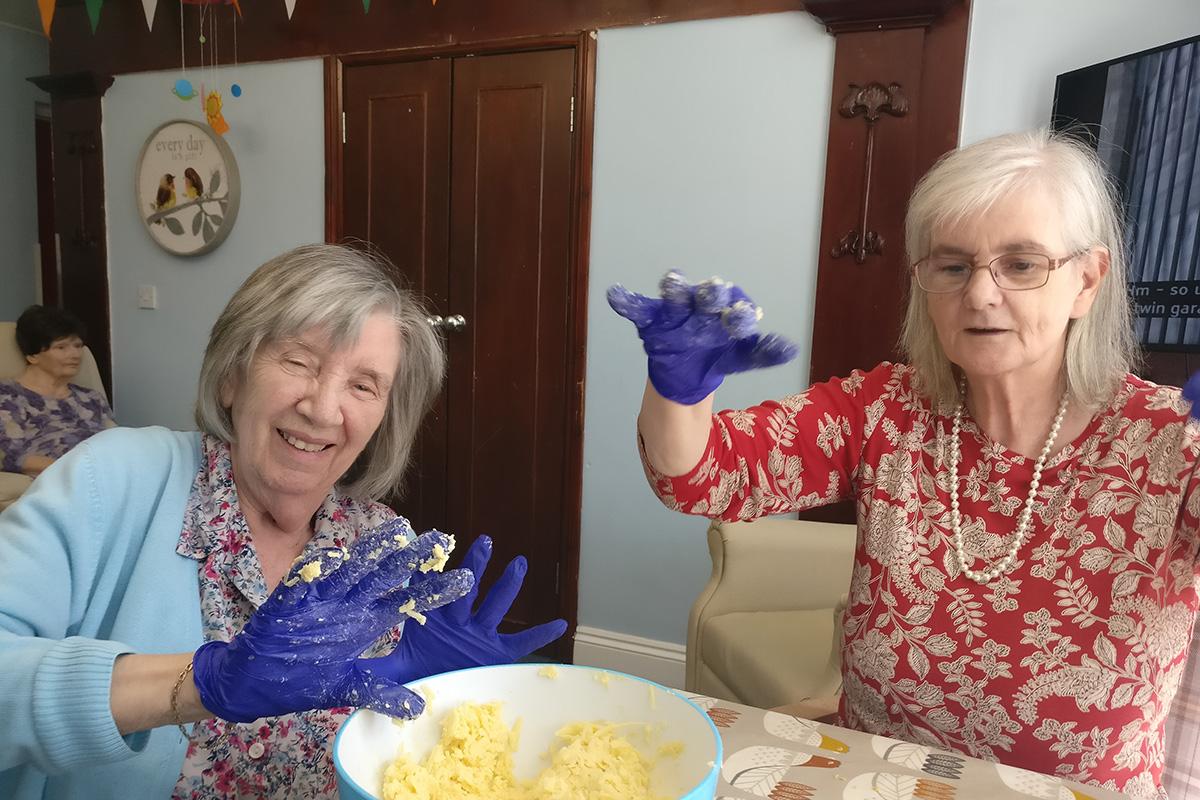 Lulworth House Residential Care Home residents enjoy baking tasty treats