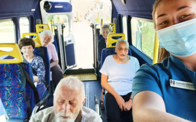 Lulworth House Residential Care Home residents enjoy sightseeing in their minibus