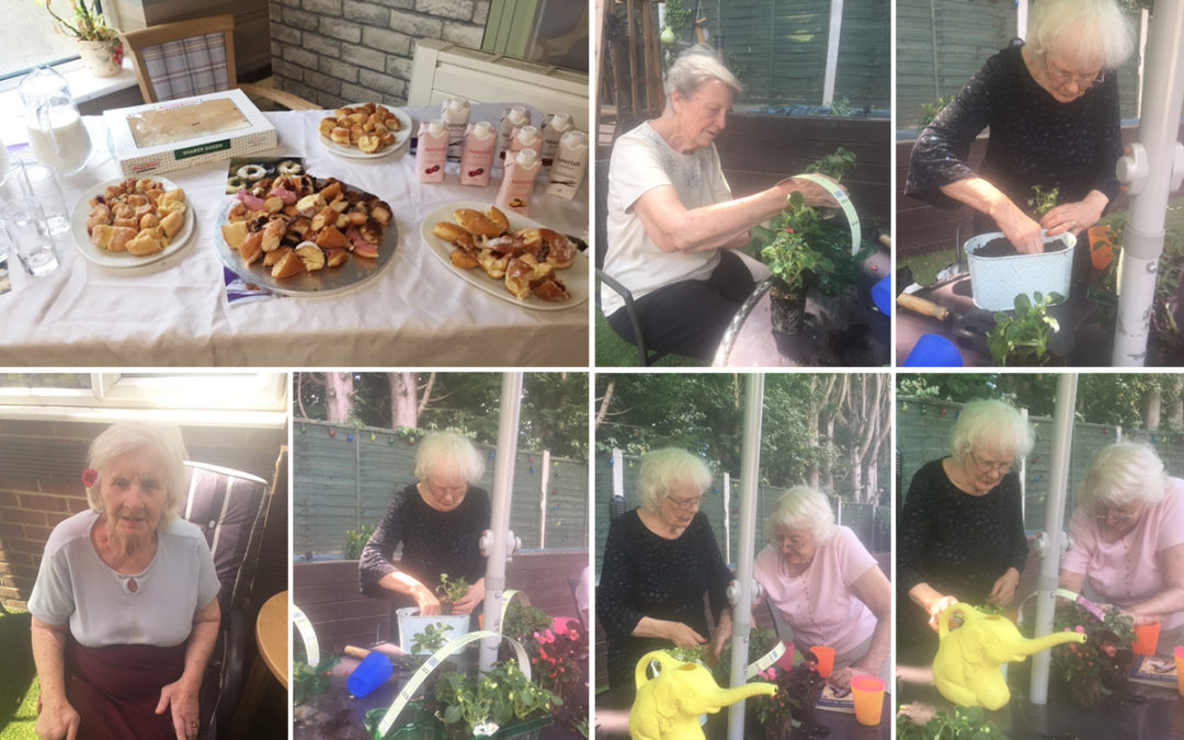 Green fingers and doughnuts at Lulworth House Residential Care Home