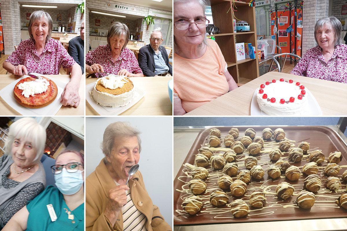 Making cake pops at Lulworth House Residential Care Home