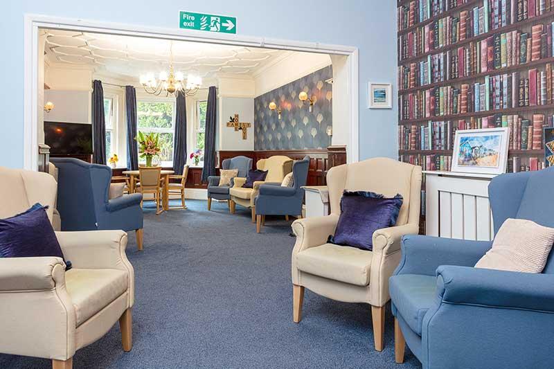 Lulworth House Blue Lounge Area