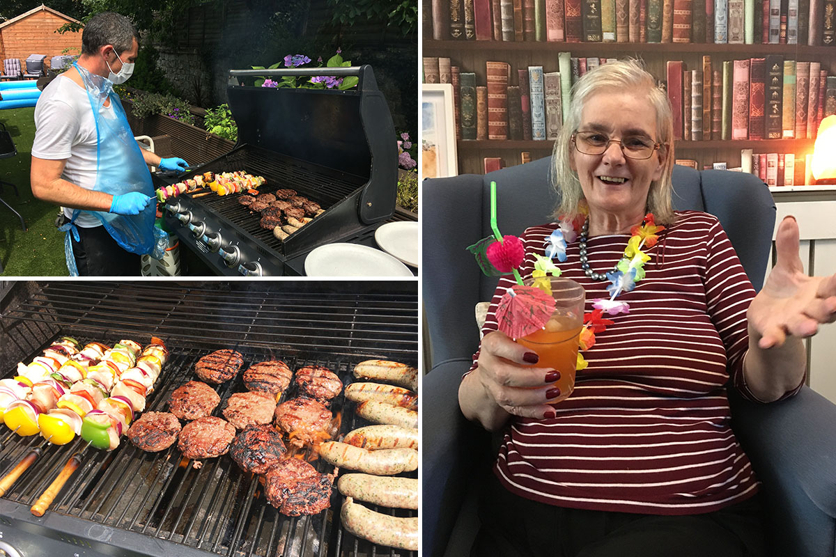 Caribbean BBQ and cocktails at Lulworth House Residential Care Home