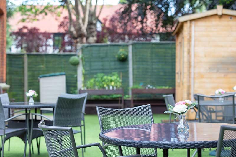 Lulworth House Garden Area