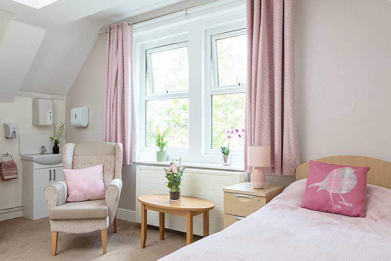 Lulworth House Pink Resident Bedroom