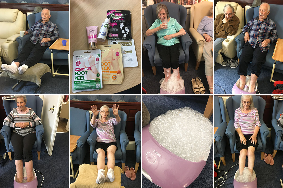 Spa day at Lulworth House Residential Care Home