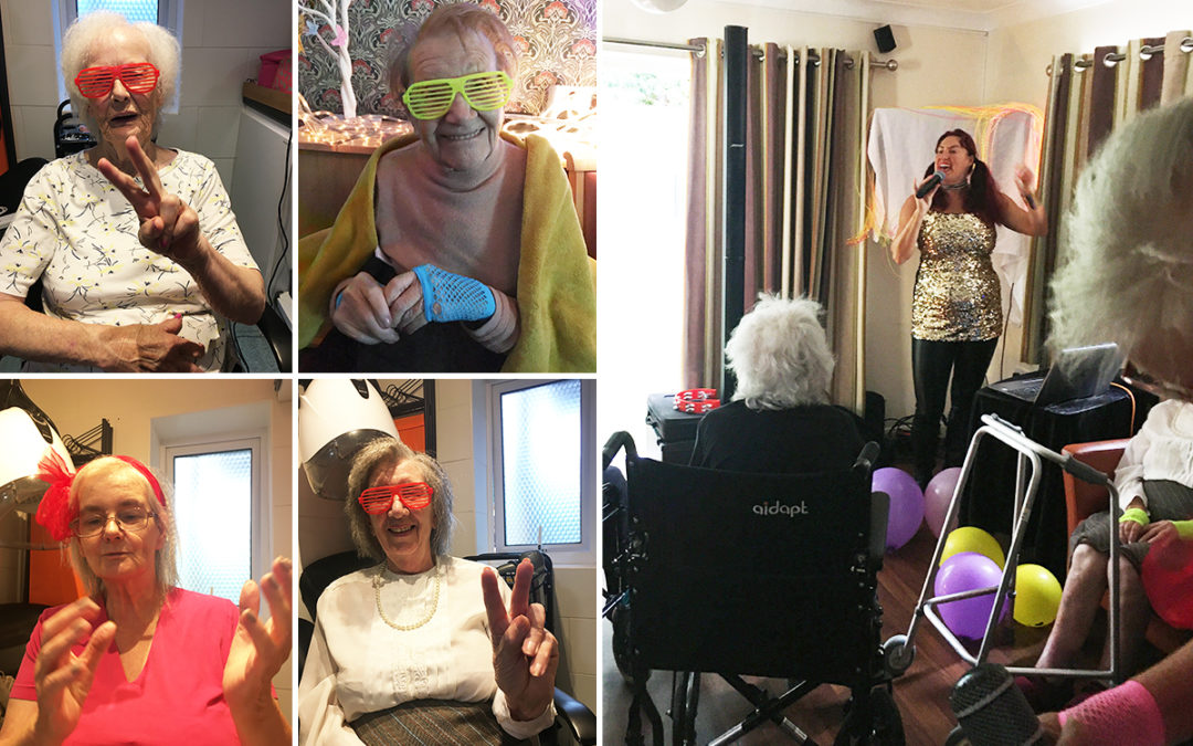 Birthday celebrations 80s style at Lulworth House Residential Care Home