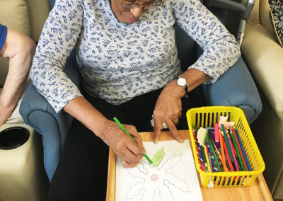 Relaxing arts, crafts and puzzles at Lulworth House Residential Care Home 1