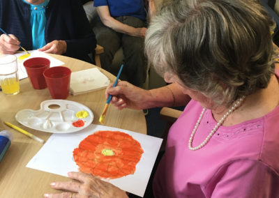 Relaxing arts, crafts and puzzles at Lulworth House Residential Care Home 8