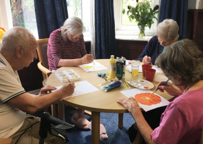 Relaxing arts, crafts and puzzles at Lulworth House Residential Care Home 9