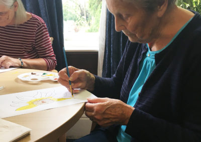 Relaxing arts, crafts and puzzles at Lulworth House Residential Care Home 2