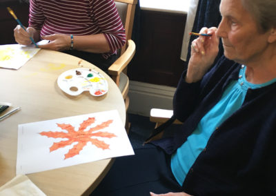 Relaxing arts, crafts and puzzles at Lulworth House Residential Care Home 4