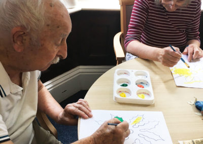 Relaxing arts, crafts and puzzles at Lulworth House Residential Care Home 6