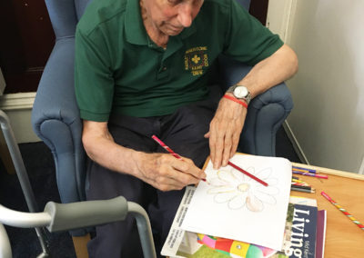 Relaxing arts, crafts and puzzles at Lulworth House Residential Care Home 7