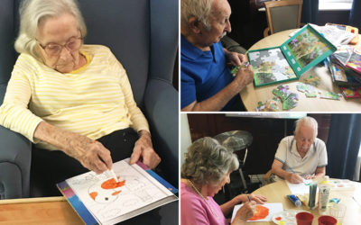 Relaxing arts and crafts at Lulworth House Residential Care Home