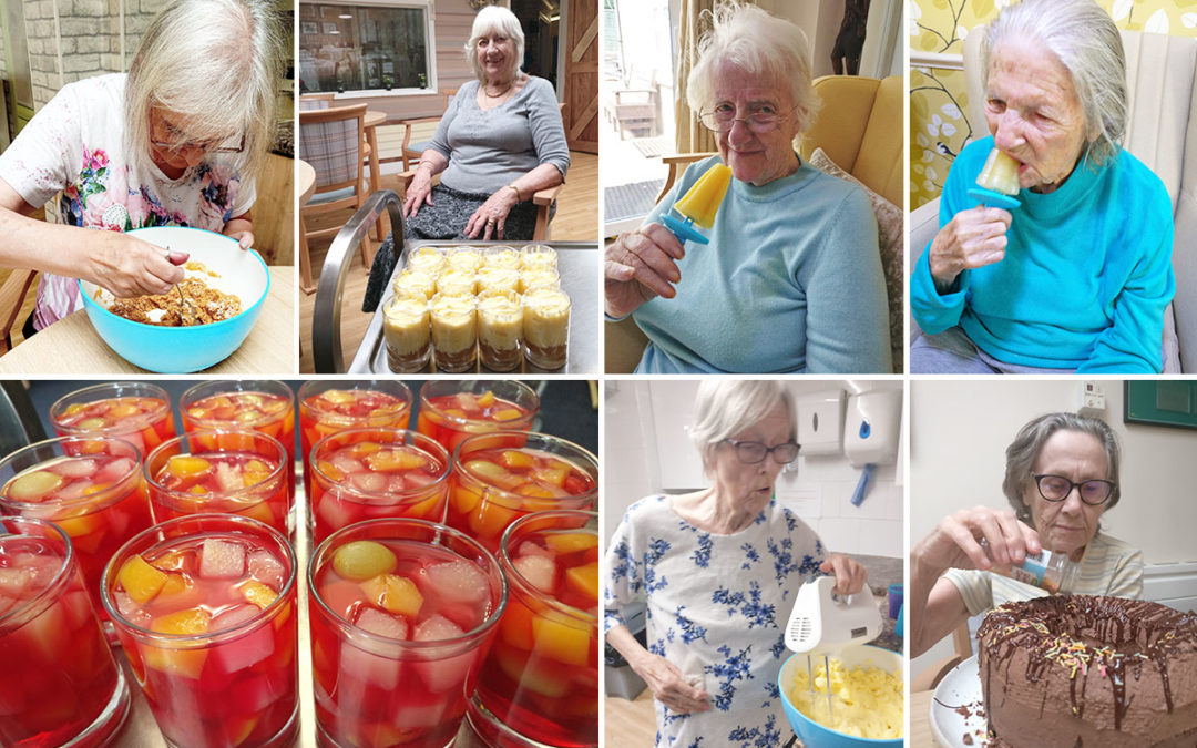 Chocolate cheesecakes and fruity treats at Lulworth House Residential Care Home