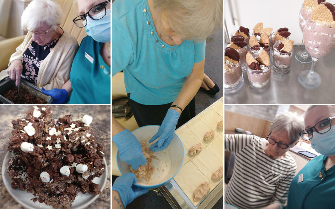 Making muffins and more at Lulworth House Residential Care Home