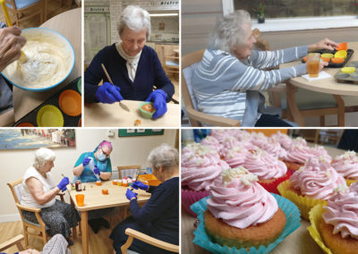 Cupcake making at Lulworth House Residential Care Home