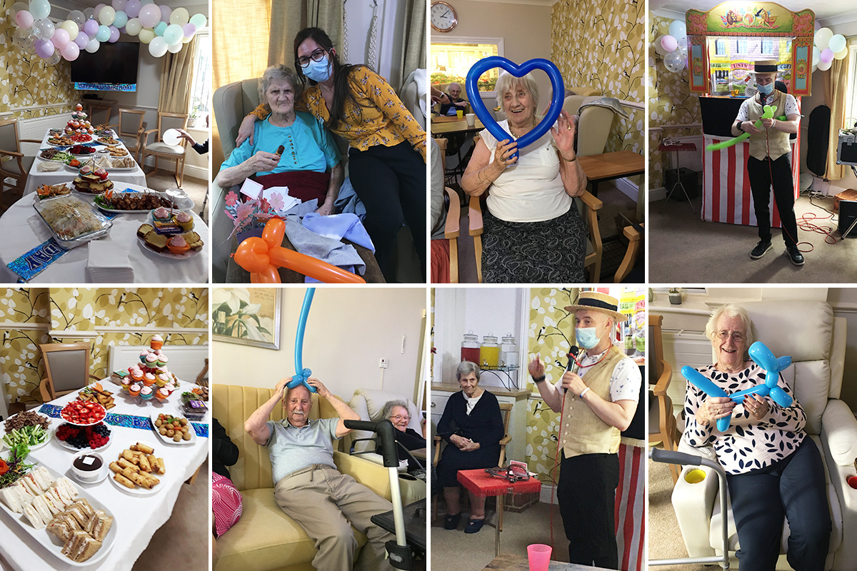 Punch and Judy fun at Lulworth House Residential Care Home