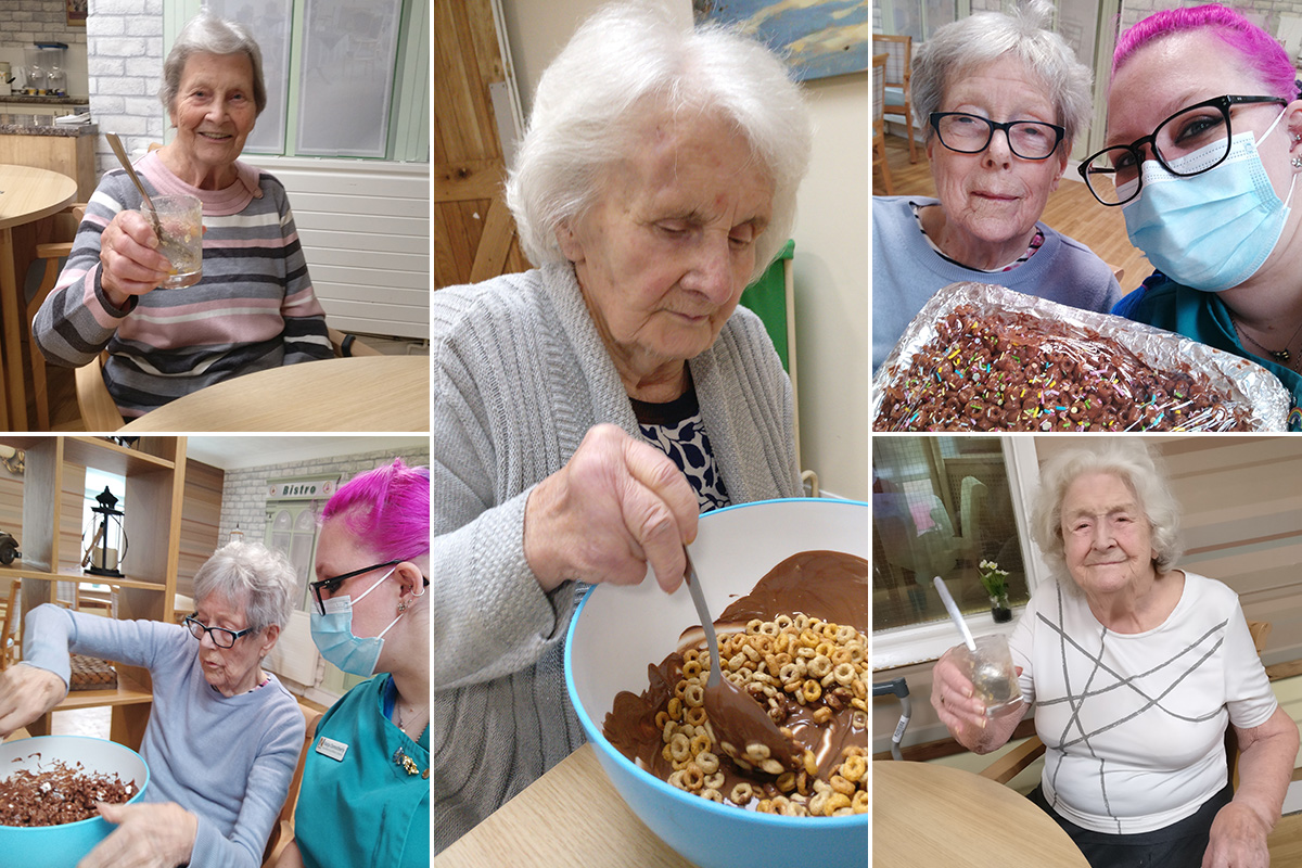 Baking Club chocolate treats at Lulworth House Residential Care Home