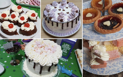 Birthday and charity MacMillan cakes at Lulworth House Residential Care Home