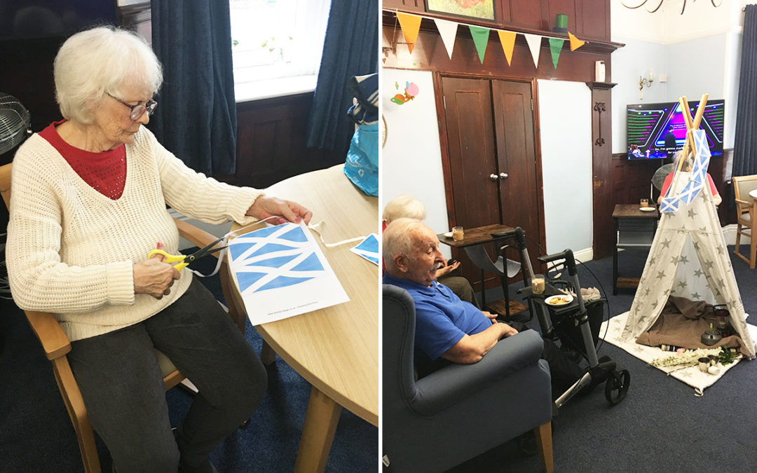 Carry on Camping in Scotland at Lulworth House Residential Care Home
