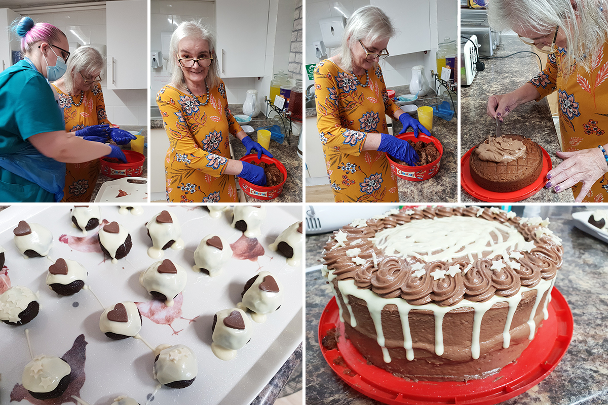 Cake and cake truffles at Lulworth House Residential Care Home